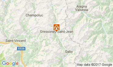 Kaart Gressoney Saint Jean Studio 110114