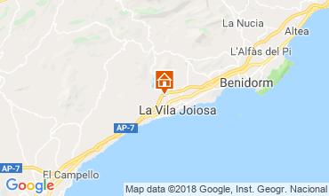 Kaart Benidorm Villa 97736