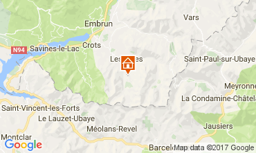 Kaart Les Orres Appartement 111707