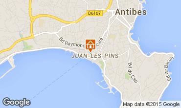 Kaart Juan les Pins Appartement 78148