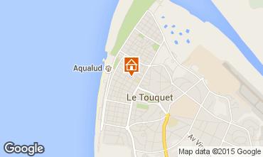 Kaart Le Touquet Appartement 21640