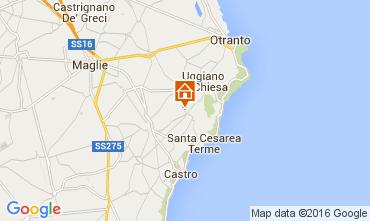 Kaart Santa Cesarea Terme Appartement 104130