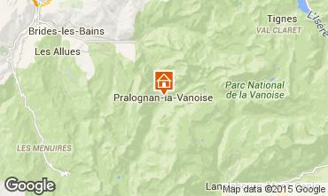 Kaart Pralognan la Vanoise Appartement 93265