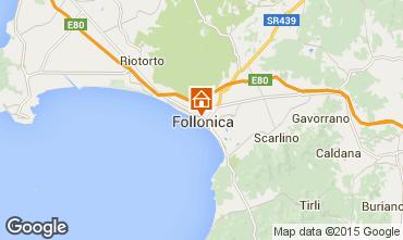 Kaart Follonica Appartement 76470