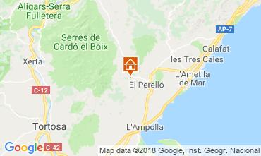 Kaart La Ametlla de Mar Vakantiehuis 110680
