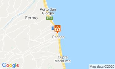 Kaart Porto San Giorgio Appartement 58120