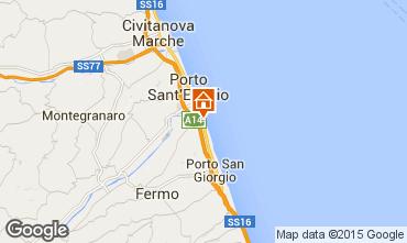 Kaart Porto San Giorgio Bungalow 85039