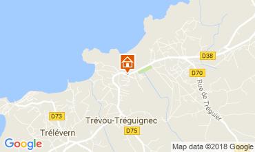 Kaart Trevou Treguignec Vakantiehuis 113999