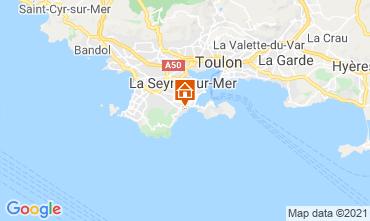 Kaart Six Fours Les Plages (strand) Villa 96805
