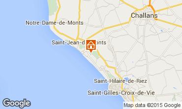 Kaart Saint Jean de Monts Stacaravan 18996