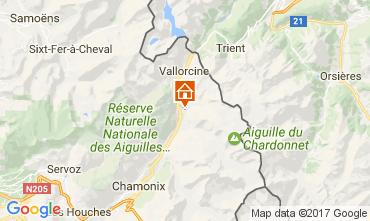 Kaart Chamonix Mont-Blanc Chalet 706