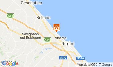 Kaart Rimini Appartement 102906