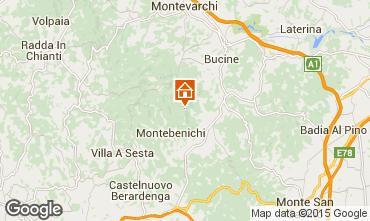 Kaart Siena Vakantiehuis 84892