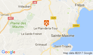 Kaart Saint Tropez Villa 109162