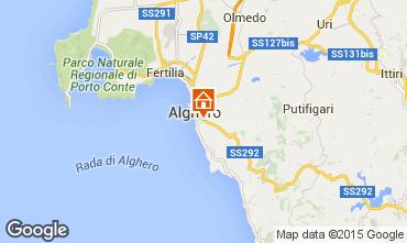 Kaart Alghero Appartement 45136