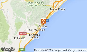 Kaart La Ametlla de Mar Villa 80569