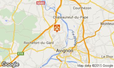 Kaart Villeneuve lez Avignon Vakantiehuis 86441