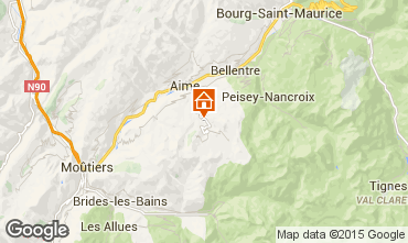 Kaart La Plagne Chalet 37760