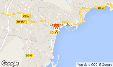 Kaart Le Lavandou Appartement 94876