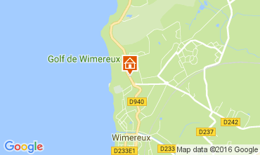 Kaart Wimereux Appartement 107308