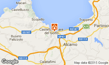 Kaart Castellammare del Golfo Appartement 80319