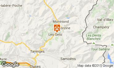 Kaart Les Gets Chalet 80003