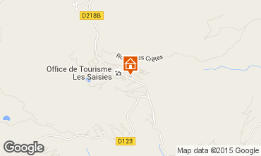 Kaart Les Saisies Appartement 77004