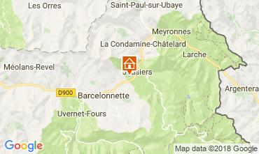 Kaart Jausiers Chalet 113520