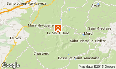 Kaart Le Mont Dore Studio 3881