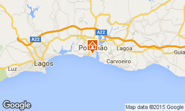 Kaart Praia da Rocha Appartement 71391