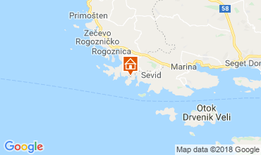 Kaart Rogoznica Huis 117487
