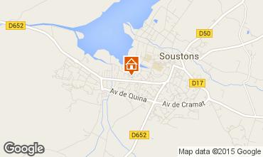 Kaart Soustons Villa 77329