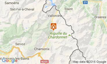 Kaart Chamonix Mont-Blanc Appartement 106620