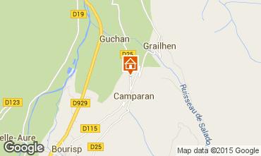 Kaart Saint Lary Soulan Vakantiehuis 61378