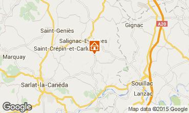 Kaart Salignac-Eyvignes Huis 83784