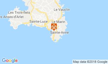 Kaart Sainte Anne (Martinique) Bungalow 8125