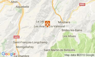 Kaart Valmorel Chalet 106383