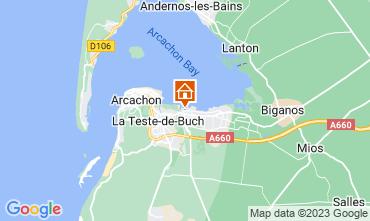 Kaart Arcachon Stacaravan 93639