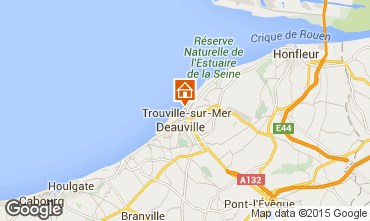 Kaart Trouville sur Mer Appartement 10801