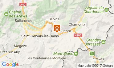 Kaart Chamonix Mont-Blanc Appartement 108076