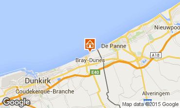 Kaart Bray-Dunes Appartement 93449