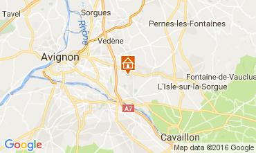 Kaart Châteauneuf-de-Gadagne Vakantiehuis 106637