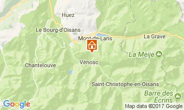 Kaart Les 2 Alpes Appartement 111830
