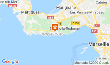 Kaart Carry le Rouet Villa 110191