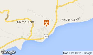 Kaart Sainte Anne(Guadeloupe) Vakantiehuis 71841