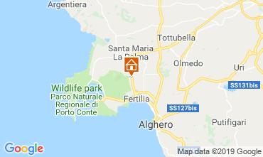 Kaart Alghero Appartement 77894