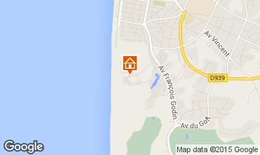 Kaart Le Touquet Appartement 7751