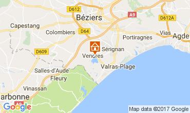 Kaart Valras-Plage (strand) Villa 112635