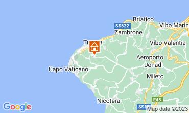 Kaart Tropea Appartement 65034