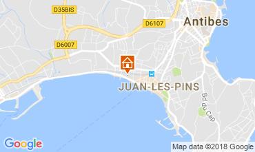 Kaart Juan les Pins Appartement 10385